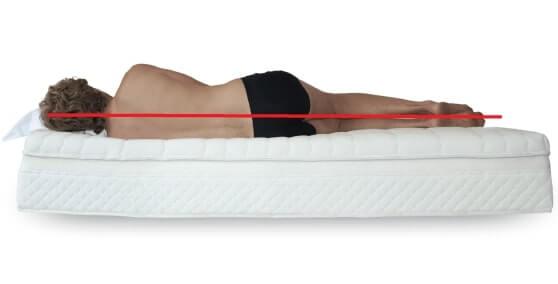 air matratze einstellen schulter gut